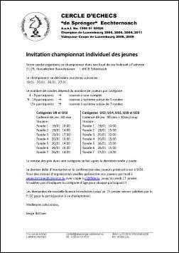 Championnat individuel des jeunes 2013