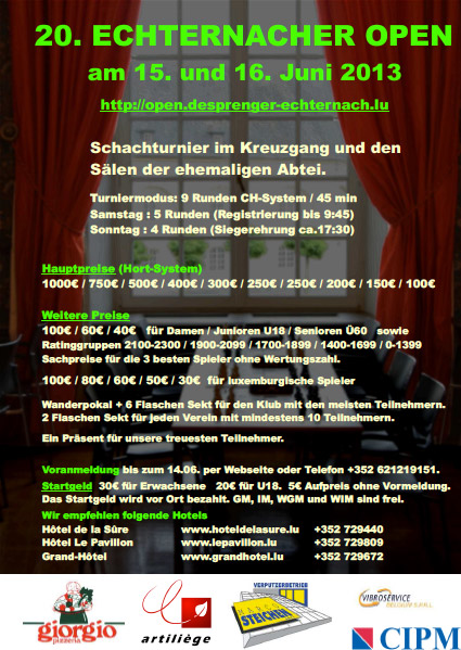 Echternacher Open 2013
